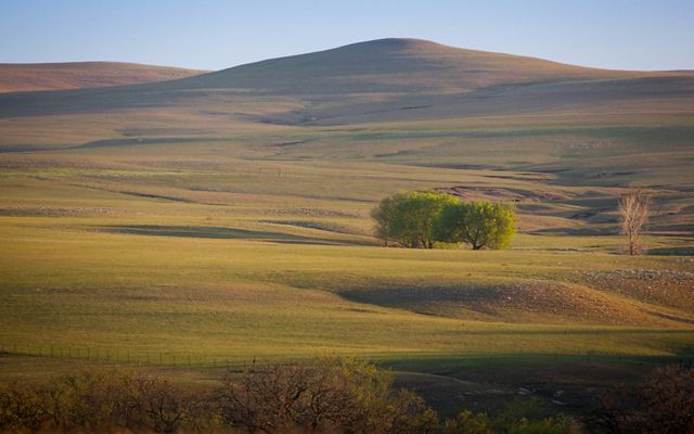 Scenic view of the rolling Flint Hills