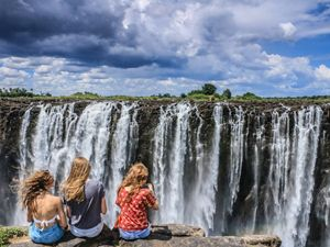 one of the world's Seven Natural Wonders. Carved into the border between Zimbabwe and Zambia in Africa.