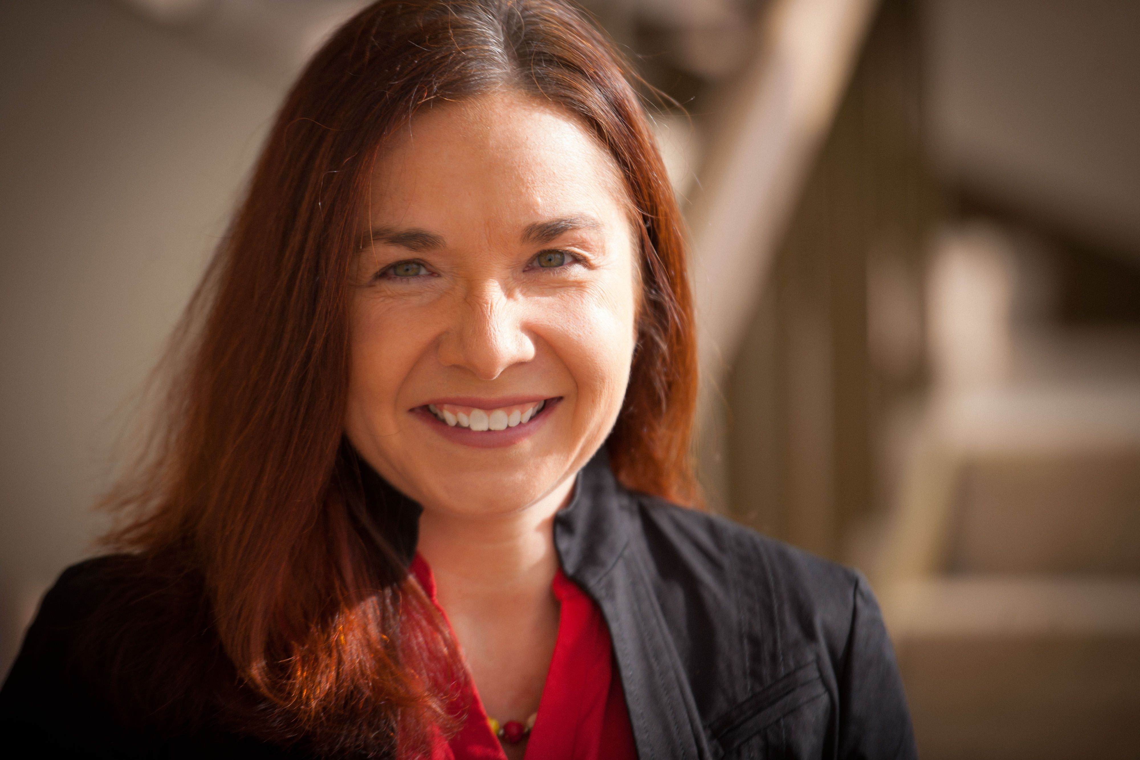 Headshot of Katharine Hayhoe.