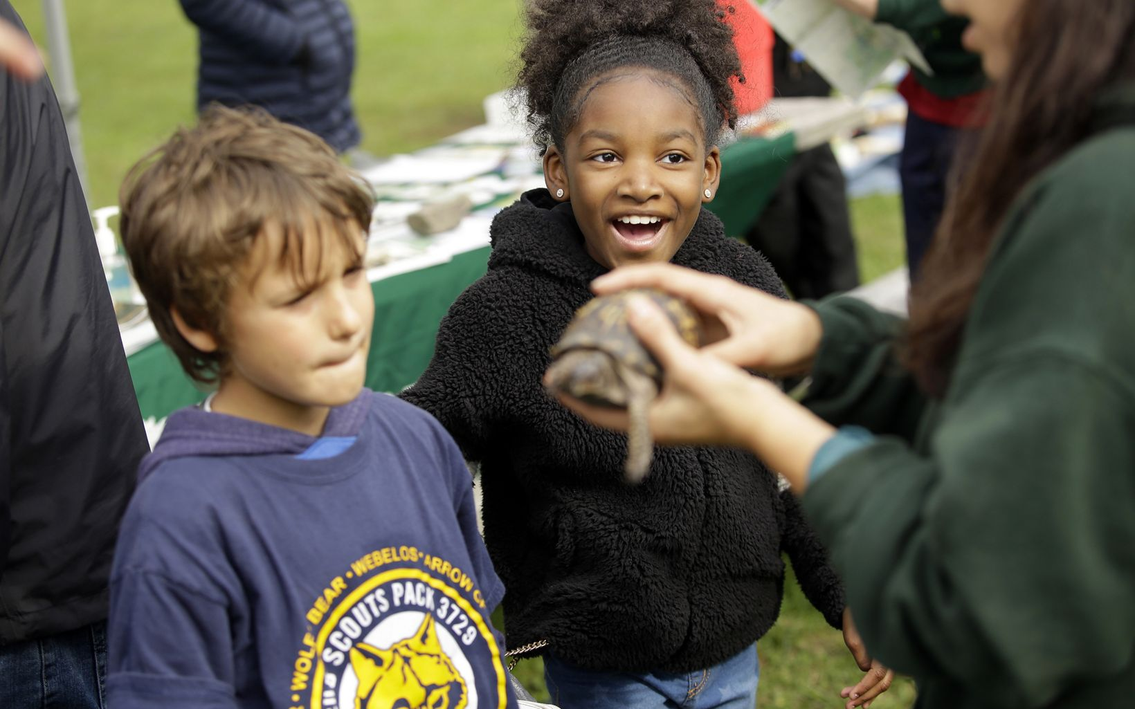 Children at the Awe of Nature Festival