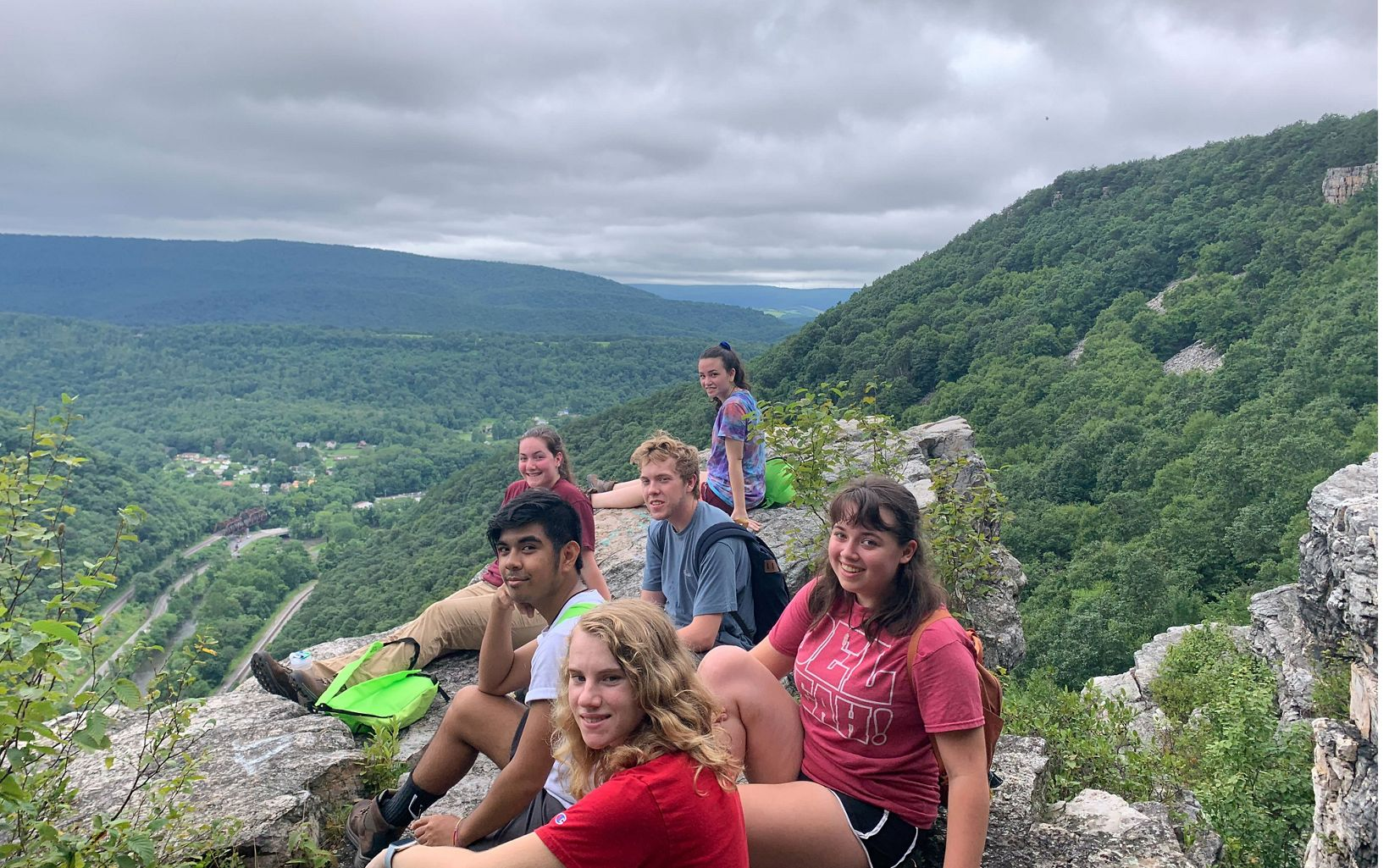 2019 LEAF interns at Wills Mountain. The students were selected from high schools in Allegany and Garrett Counties and worked with staff from the Resilient Forests Program.