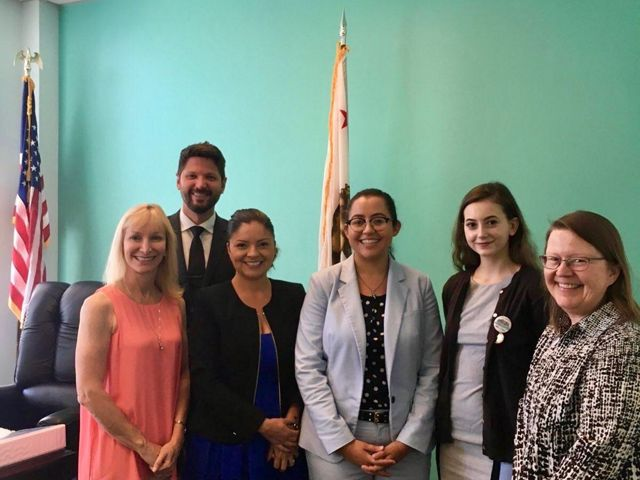 Oceans Program Director, Tom Dempsey, and External Affairs Policy Associate, Isabella Gonzalez Potter, visit the CA State Capitol to advocate for plastic free policies.