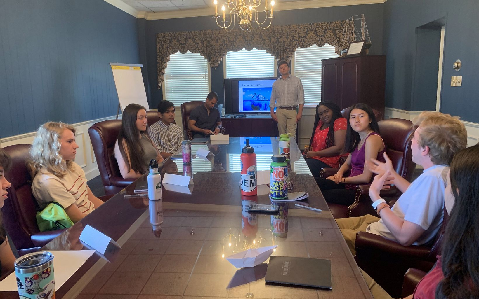 TNC staff lead western Maryland LEAF interns through advocacy training in preparation for meeting with local elected officials.