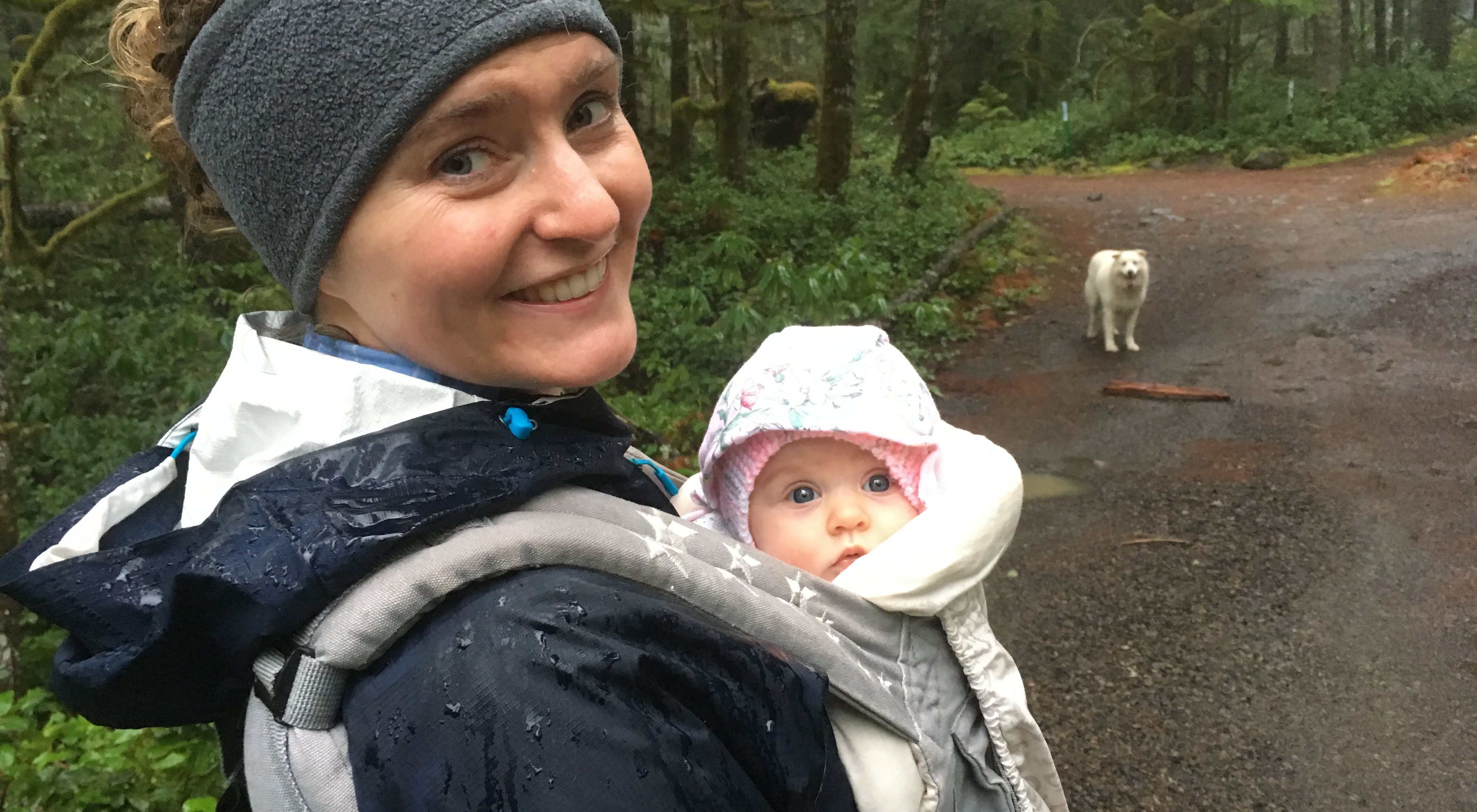 Family hike in the Mt. Hood National Forest