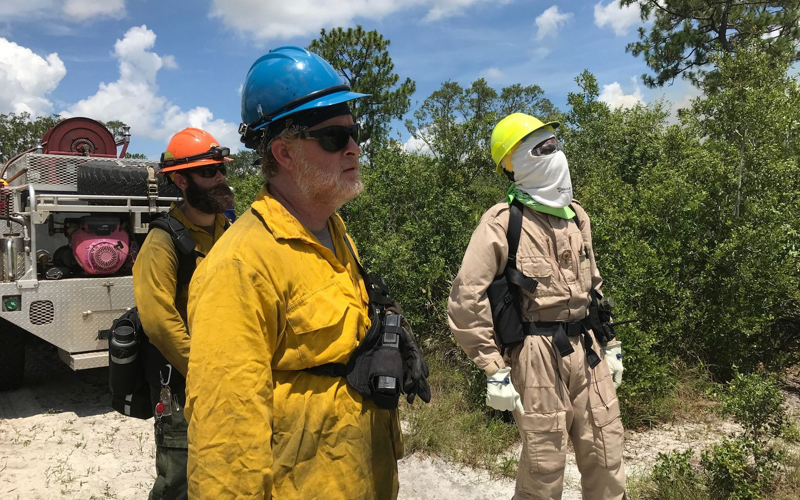 Overseeing prescribed fire in Florida
