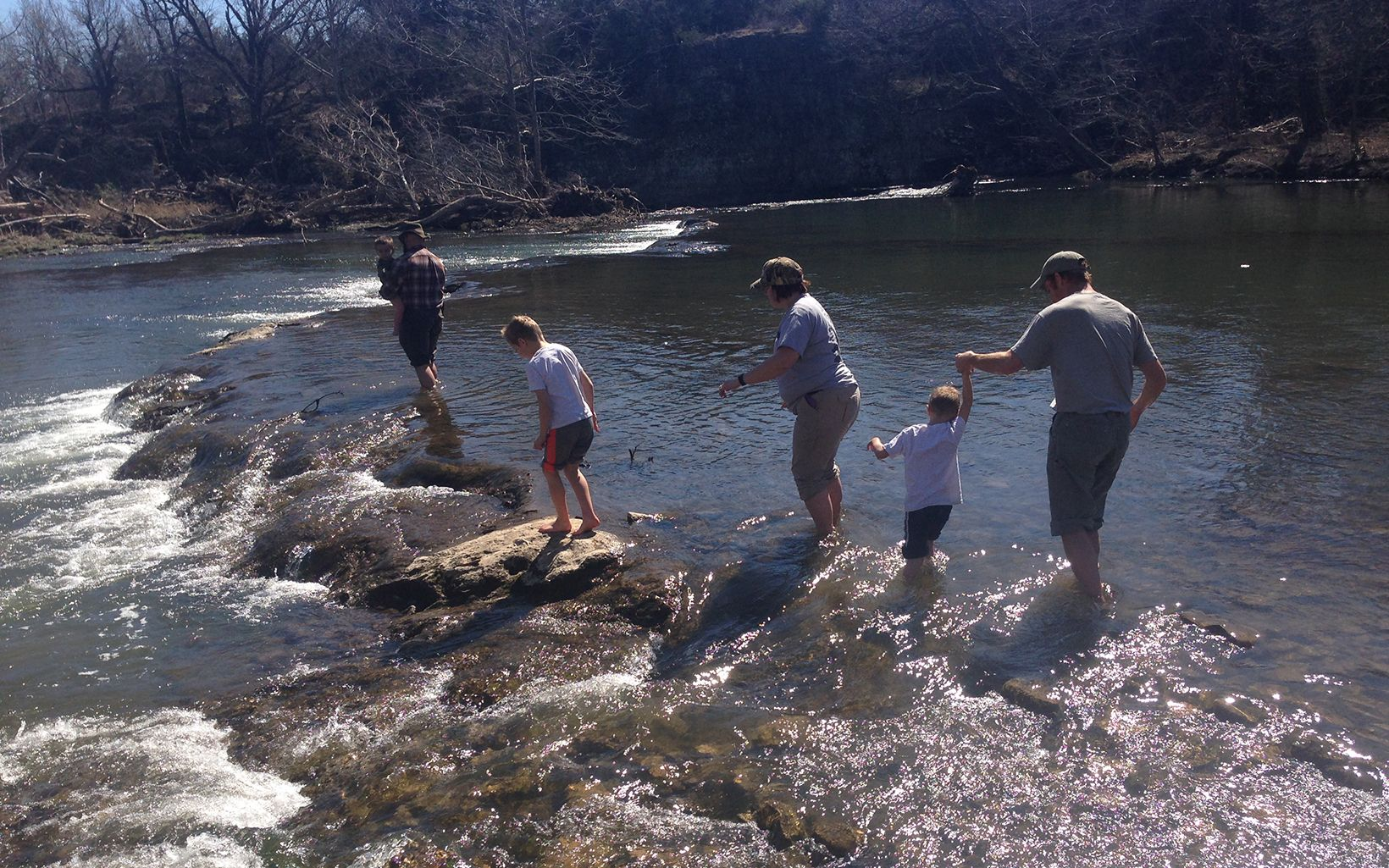 Family enjoying Blue River