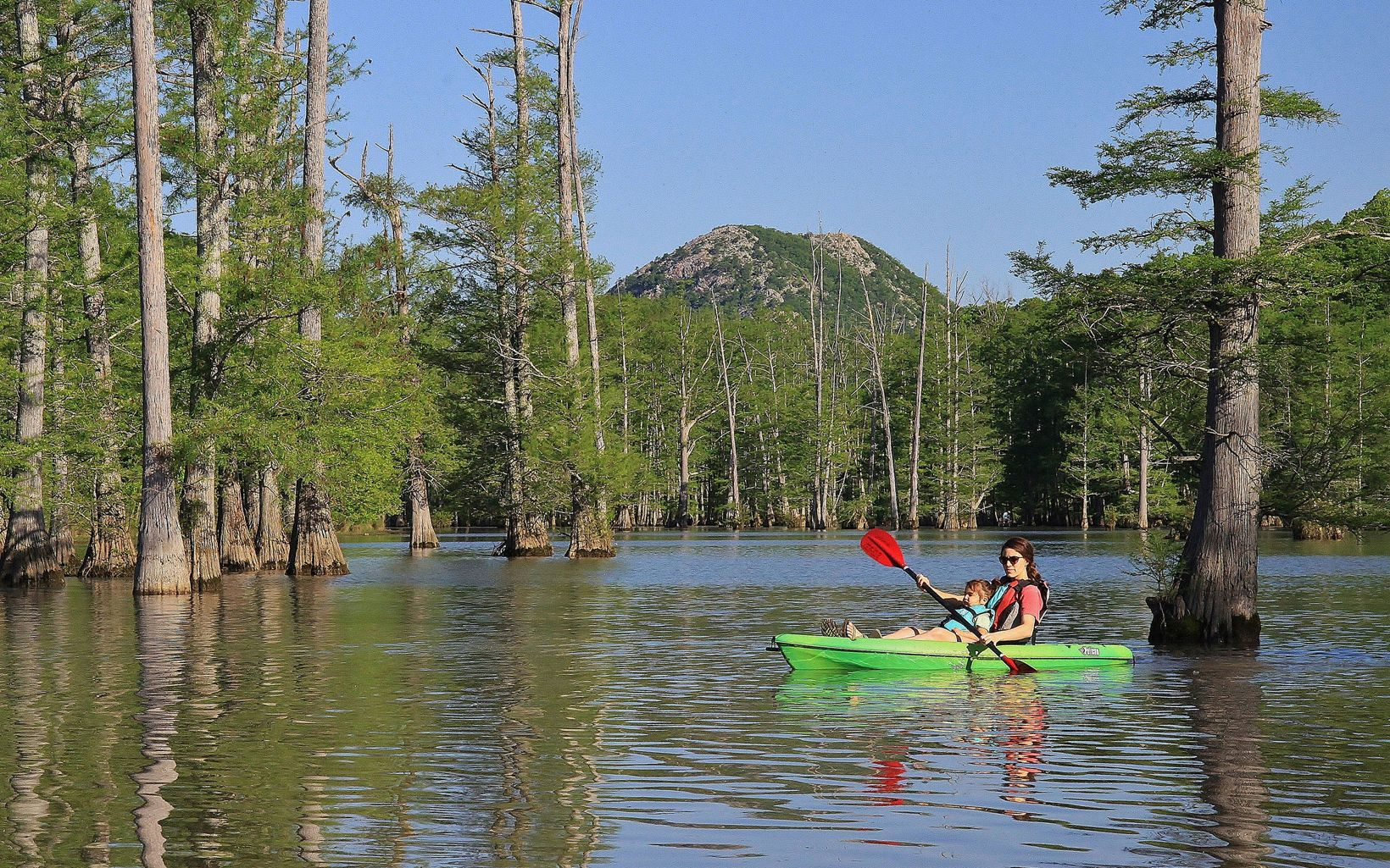 A great way to see the property is from the Little Maumelle Water Trail.