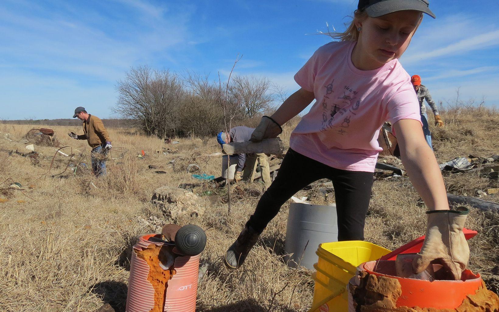 at Volunteer Work Day at Blue River.