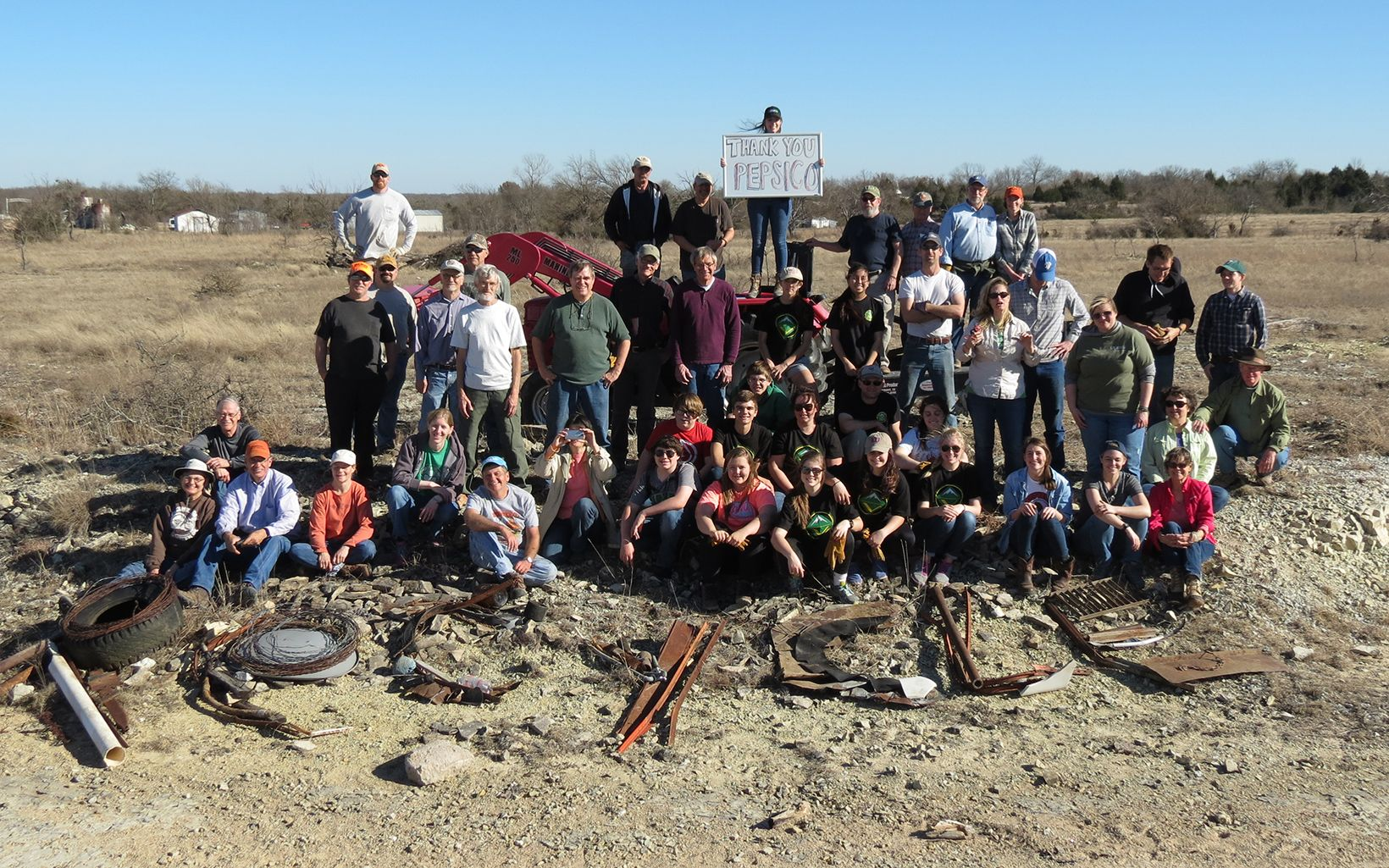 Group Photo: January Volunteer Work Day at Blue River