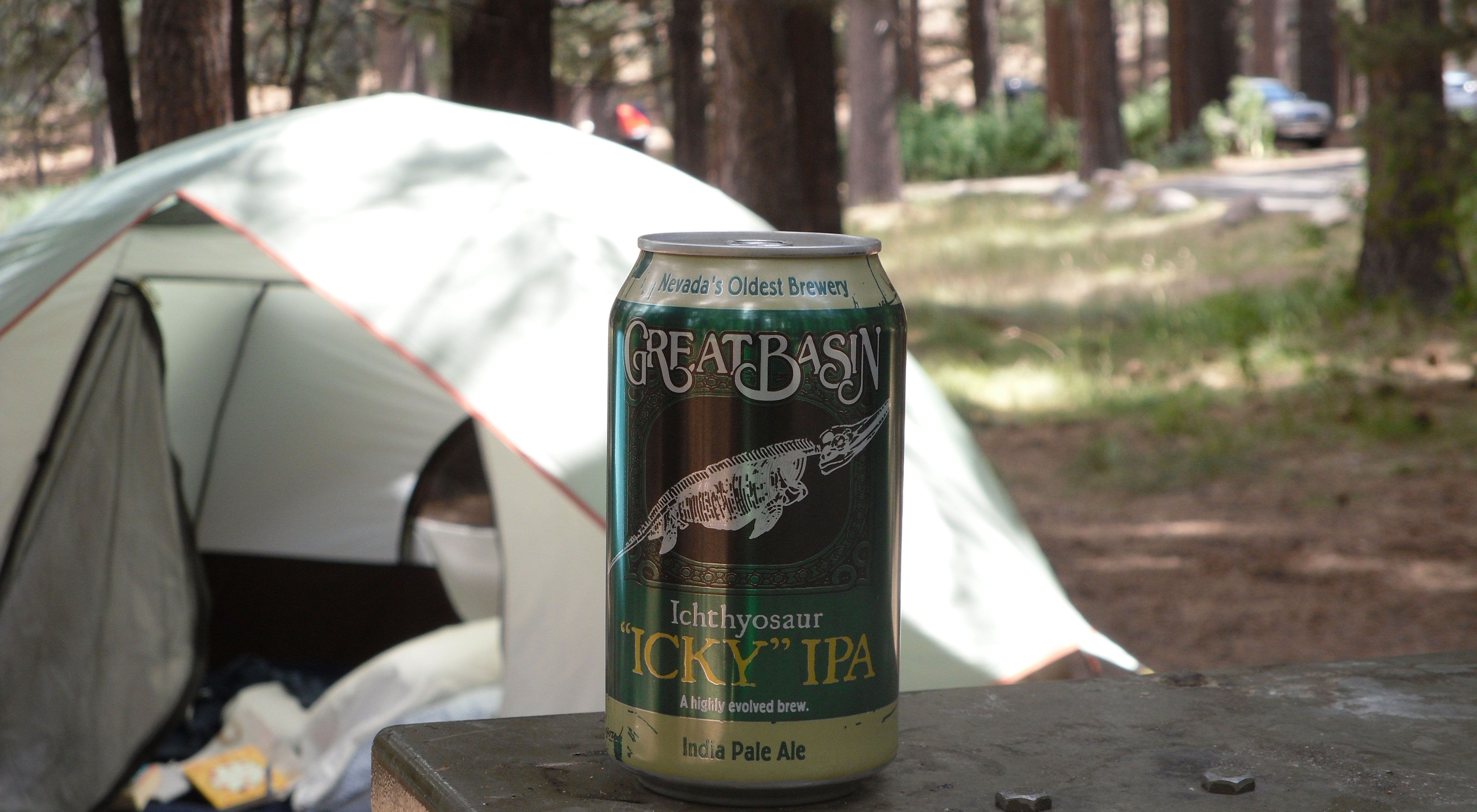 Camping with an IPA from OktoberForest participant brewery Great Basin in Nevada.