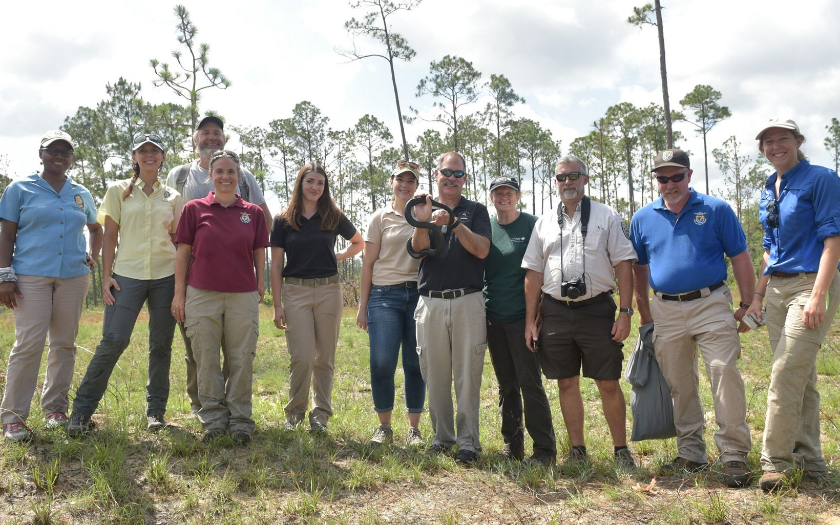 This team of dedicated partners participated in year 3 of the indigo snakes reintroduction plan.
