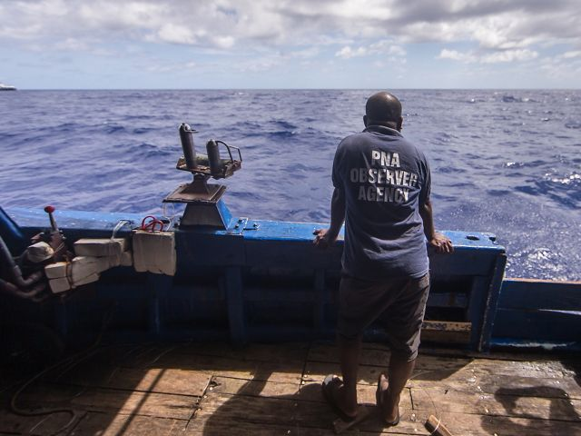 Ivan Sesebo is a human observer who monitors commercial fishing on longline tuna vessels.