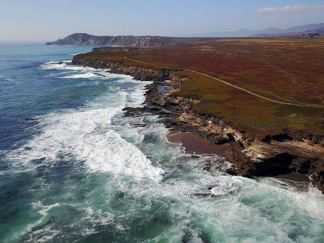The dramatic coast of the Jack and Laura Dangermond Preserve