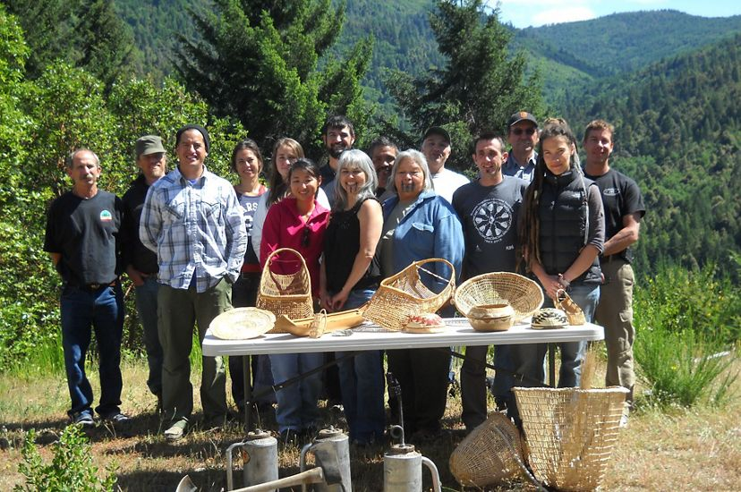 Yurok community, baskets and benefits of fire.