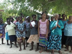 KAWAKI women's group supports sea turtle conservation in the Solomon Islands.