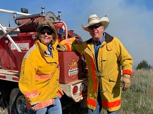Katie serves as the President for the local Cimarron Ranch Preservation Association that helps land owners conduct prescribed burns.