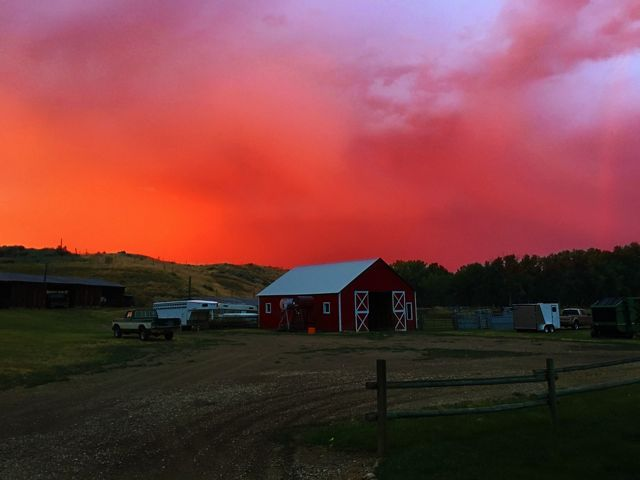 After a rainstorm at a farming ranch in Kaycee, Wyoming.