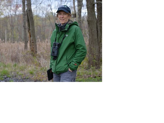 Karen Lombard, director of stewardship for the Massachusetts chapter, at Fannie Stebbins Wildlife Refuge in Springfield, MA.
