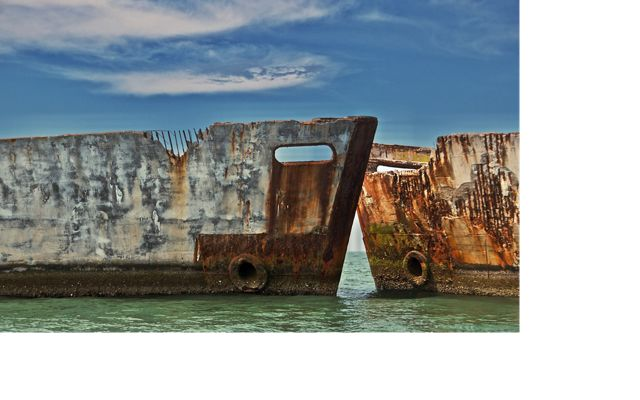 The Concrete Fleet is a unique feature of Kiptopeke--nine concrete ships scuttled in 1948 to create a breakwater for the busy ferry terminal that existed at the time.