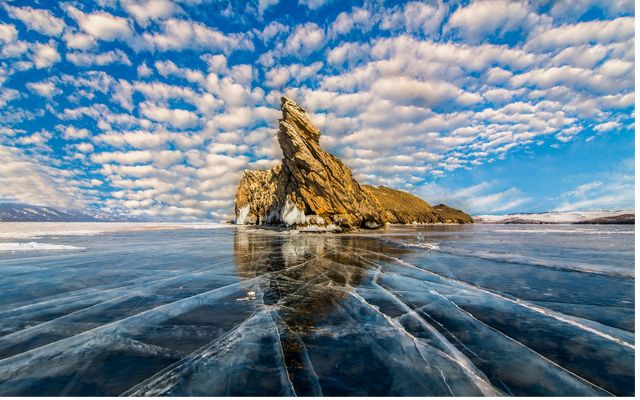 Ice on Lake Baikal in Russia. This photo was entered into The Nature Conservancy's 2018 Photo Contest.