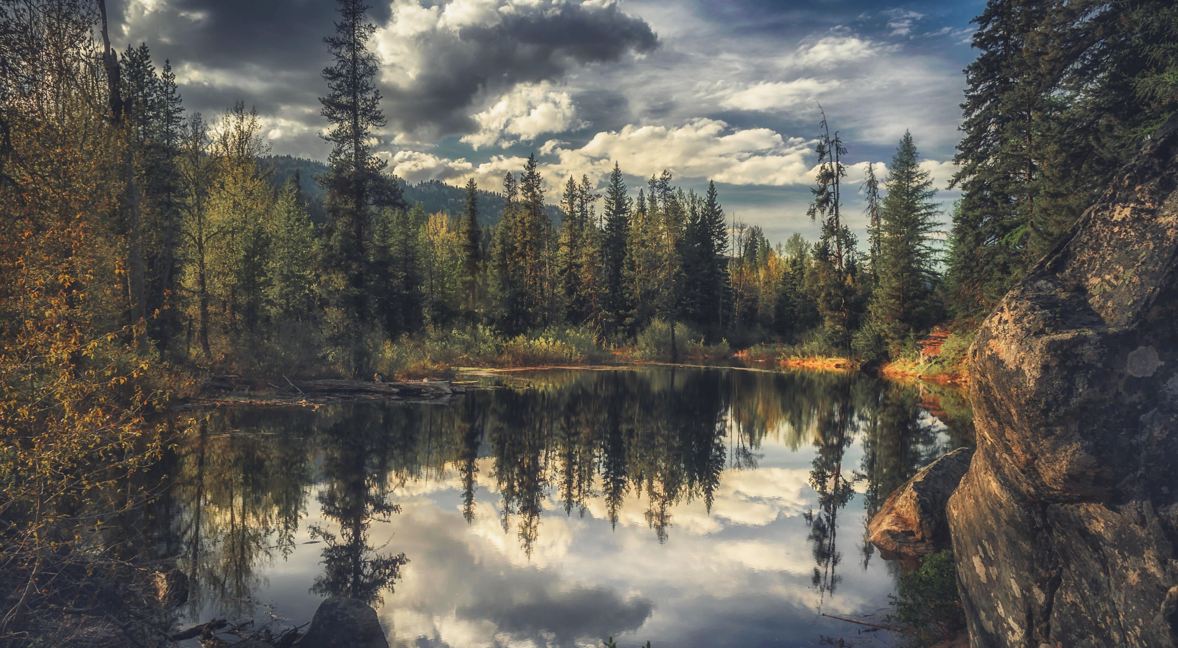 Lake in an enchanted forest near McCall, OR