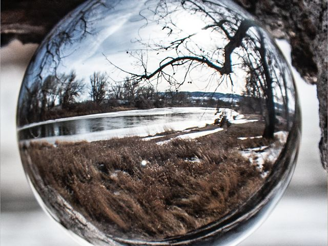 River perspective in Castle park, Wyoming.