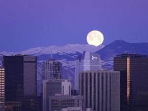 Super moon over Denver.
