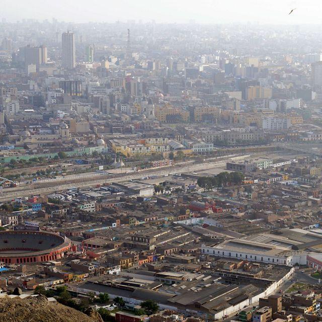 View of downtown Lima, Peru