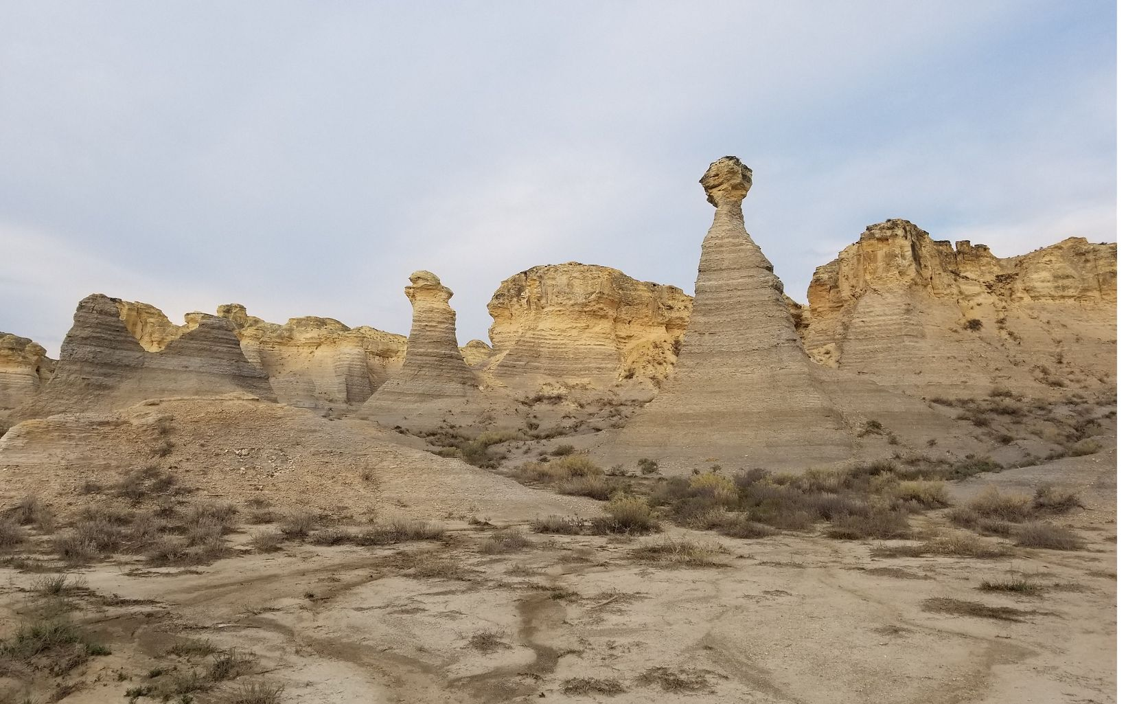 at Little Jerusalem Badlands State Park in western Kansas. TNC owns the property and has partnered with the state of Kansas to offer public access.