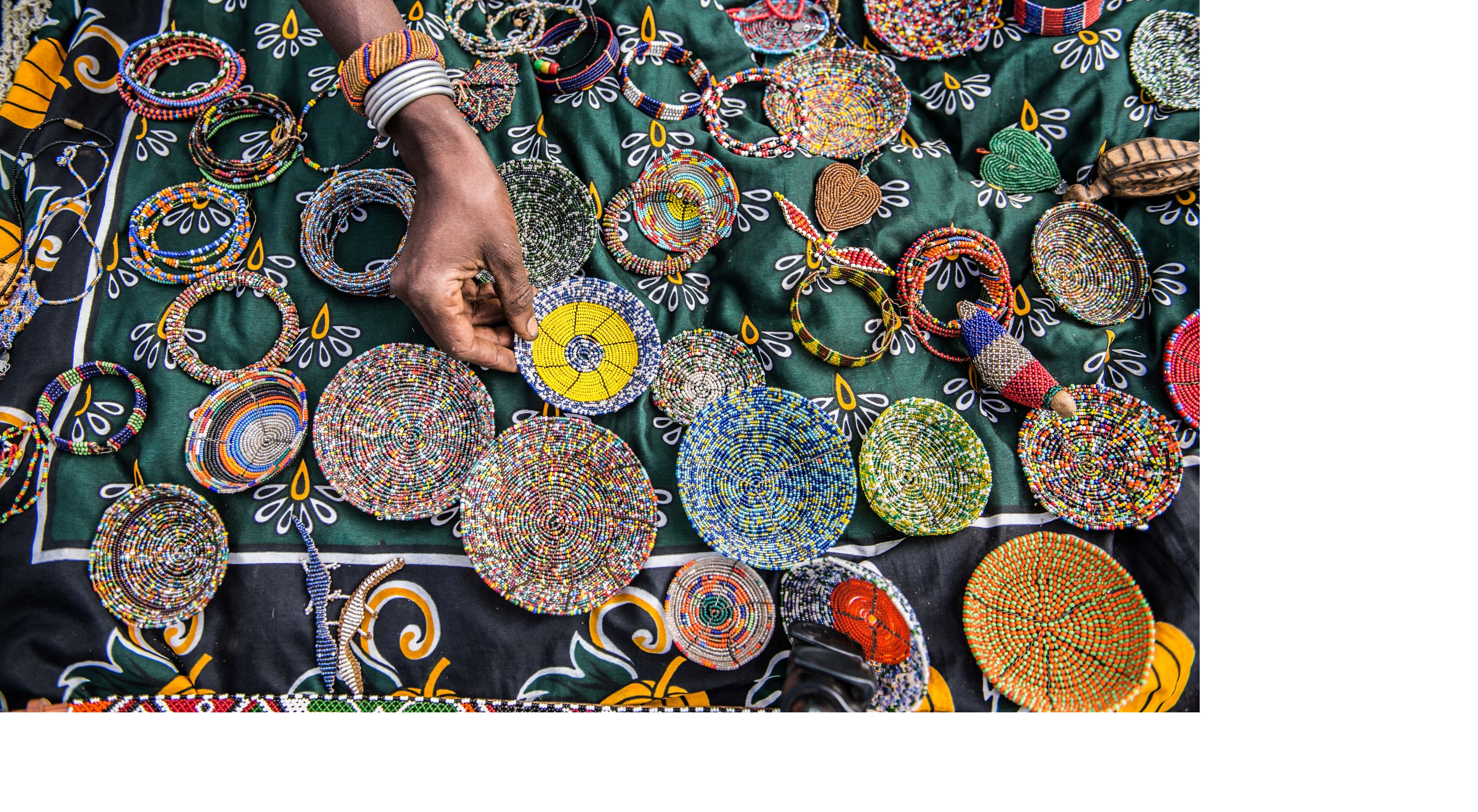 colorful beaded crafts