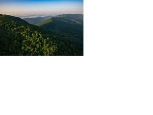 Aerial view of Cumberland Gap, Kentucky.
