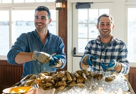 Photo of SGCC members Dan and Greg Martino/Cottage City Oysters