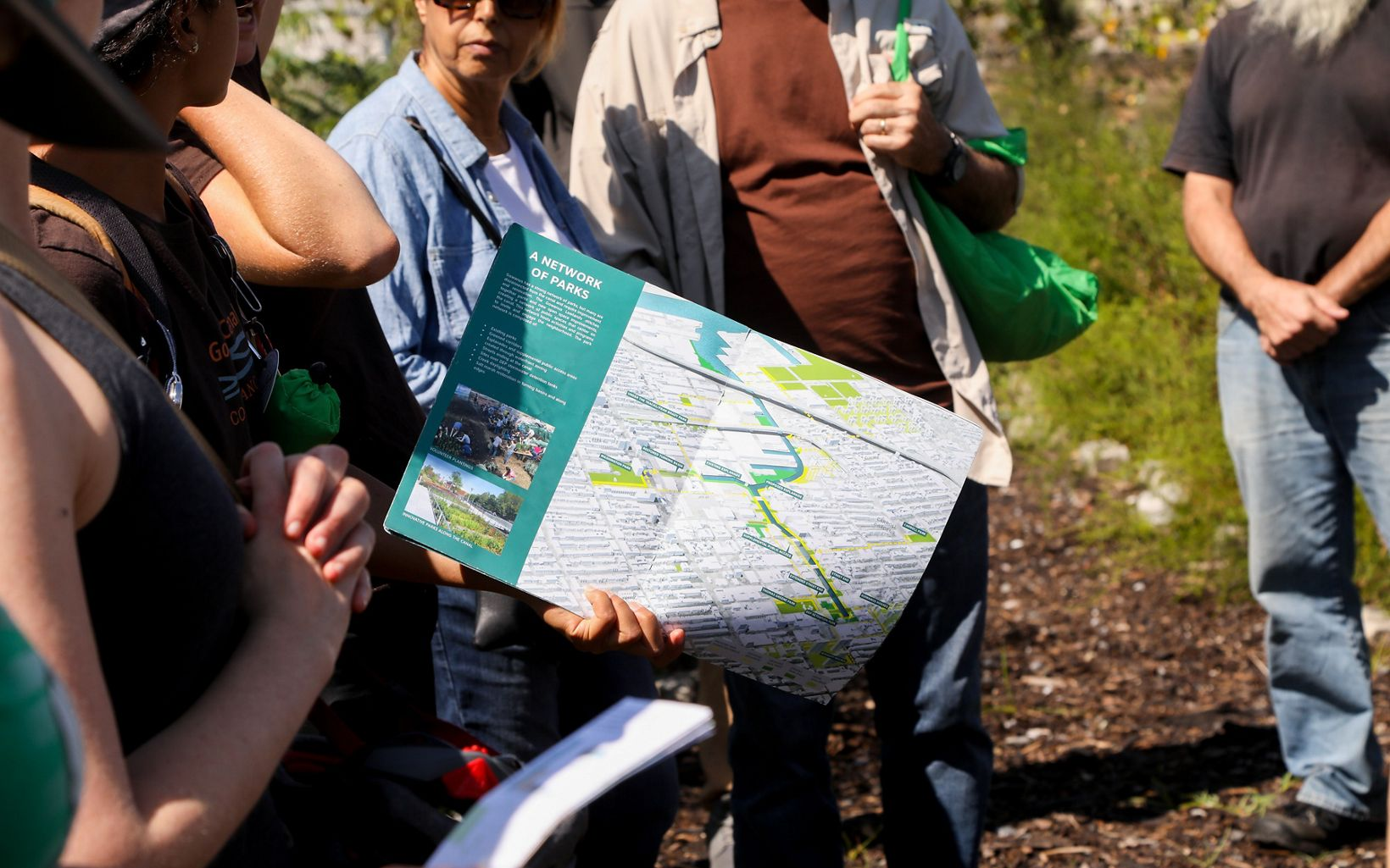 Maps provided by the Gowanus Canal Conservancy showcase the network of parks in the area.