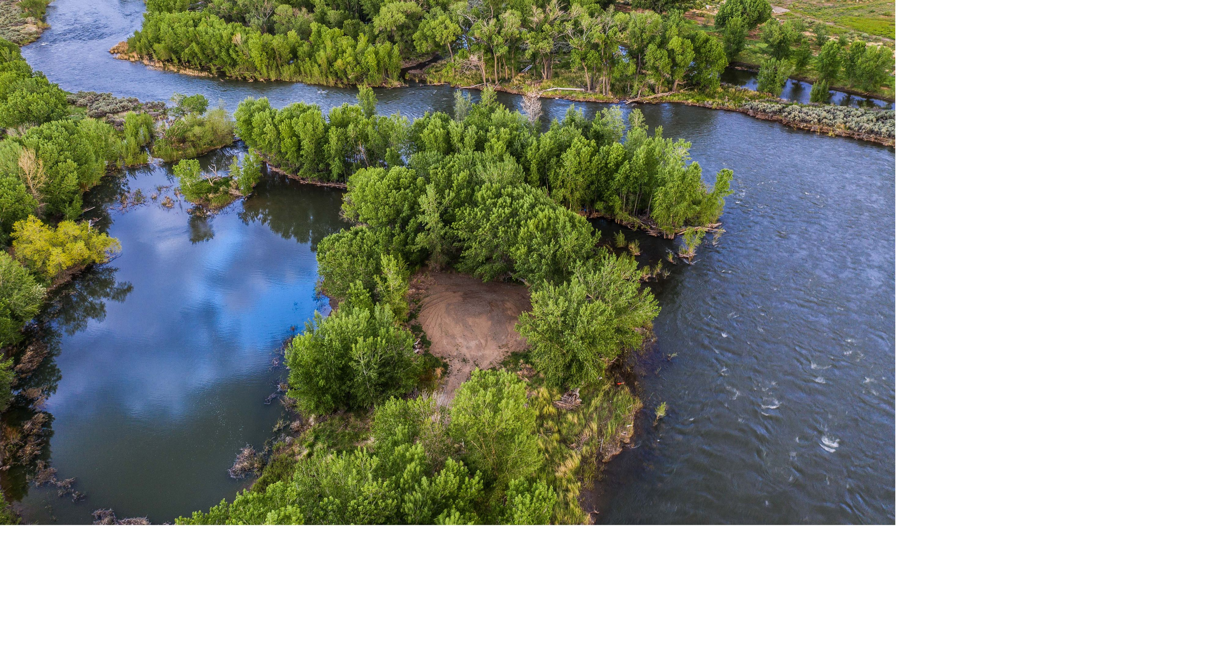Aerial view of the Truckee River at McCarran Ranch