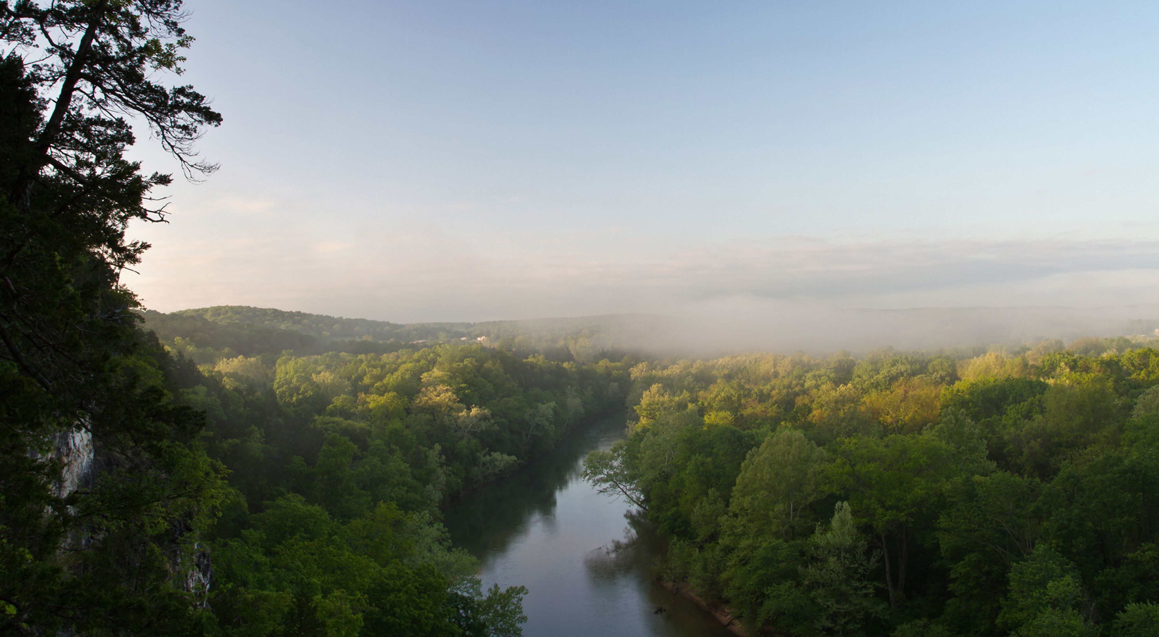 overlooking the Meramec River in Missouri.