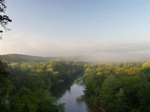 Aerial view of the Meramec River