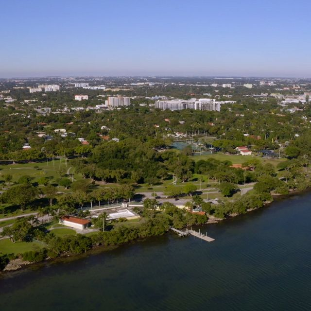 Aerial view of Miami's Morningside Park.