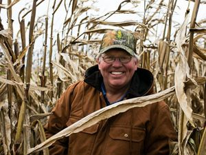 Mike Werling in his cornfield.