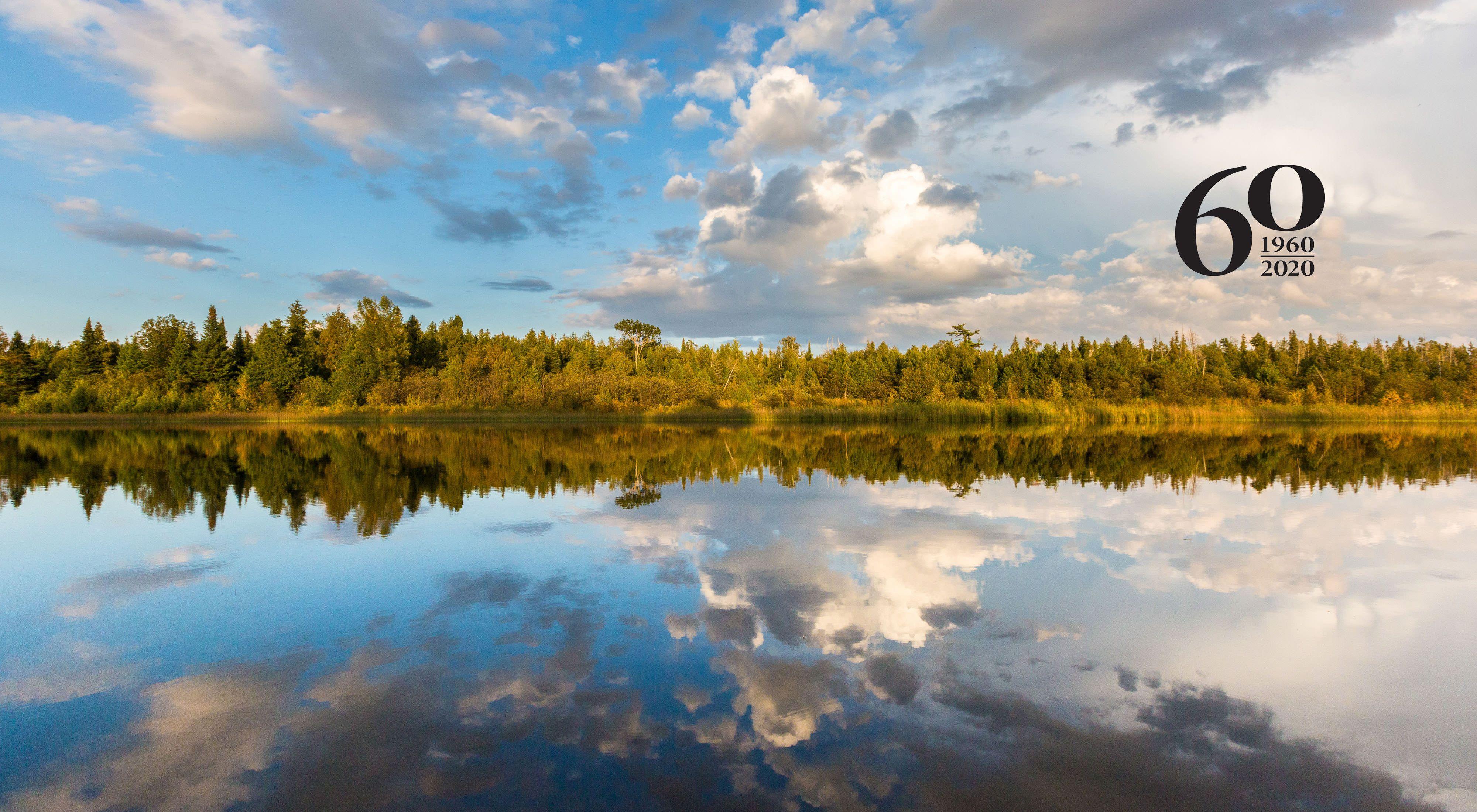 The Mink River Estuary in Door County, Wisconsin.