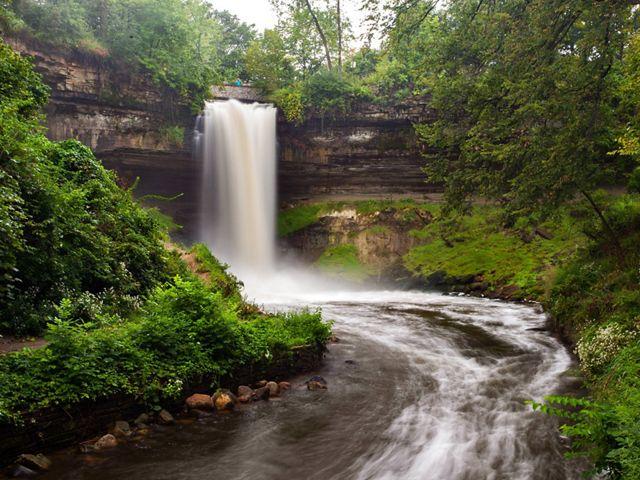 Minnehaha Falls Regional Park in Minneapolis, MN.