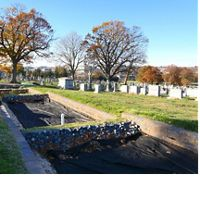 Construction in progress at Mt. Olivet cemetery