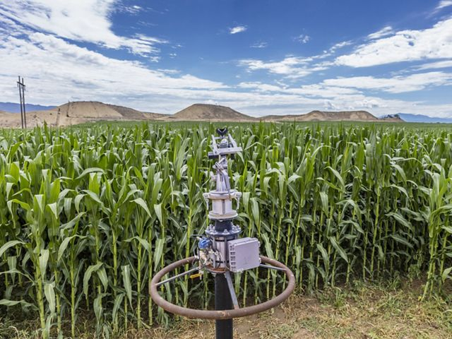 An irrigation efficiency project at Meaker Farm in Montrose, Colorado.