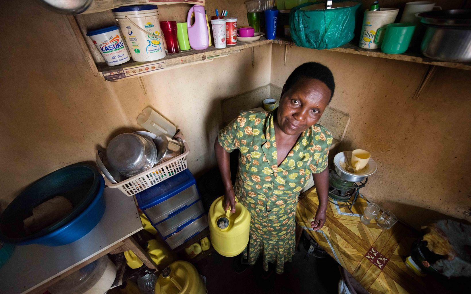 Jane Ng'ang'a lives in Nairobi and faces regular water shortages. The Upper Tana-Nairobi Water Fund is working with farmers in the watershed to secure Nairobi's water supply.