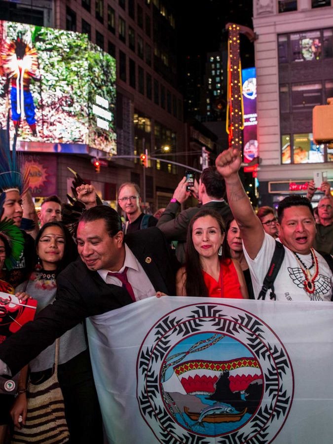 Climate activists gathering in New York City