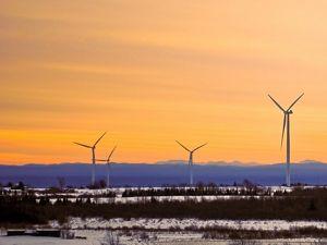 Wind turbines in NY