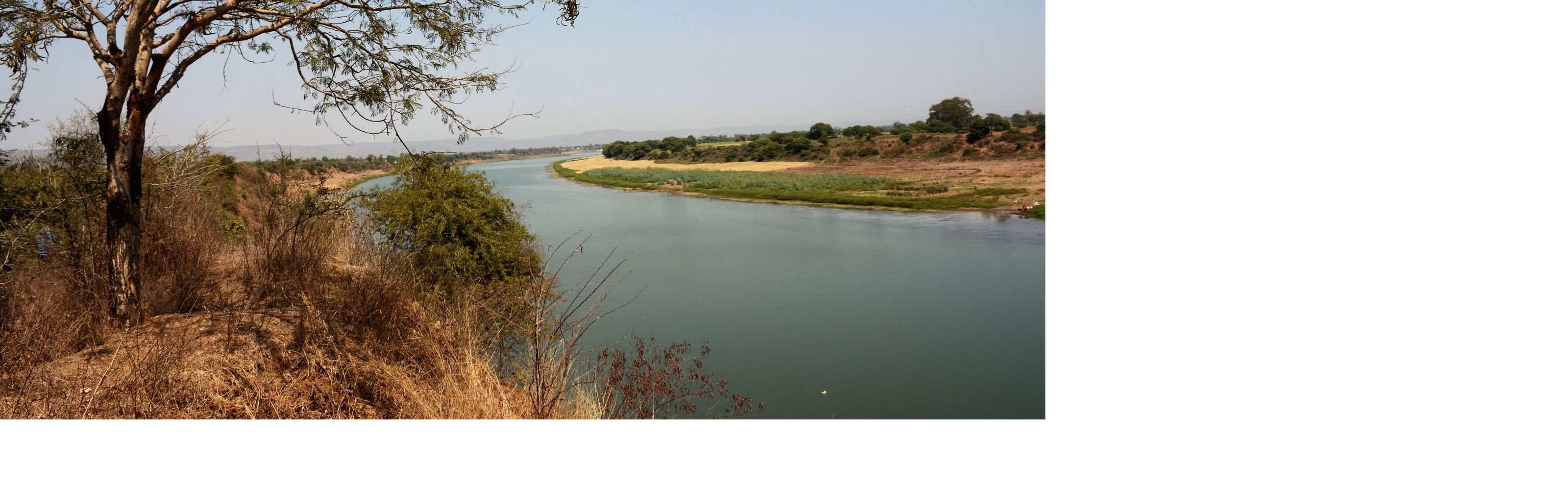 The Narmada River in Central India supports more than 25 million people and unique wildlife like the tiger, leopard and several species of deer.