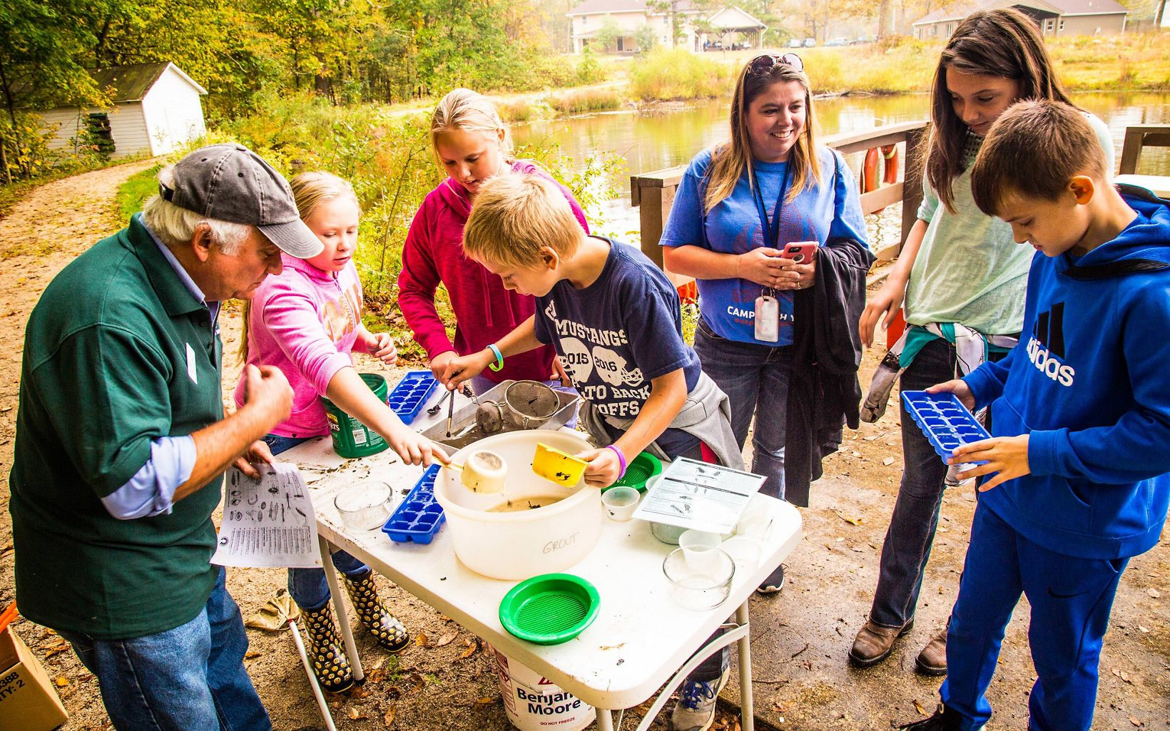 Kids explore the natural world at the Grand River Conservation Campus