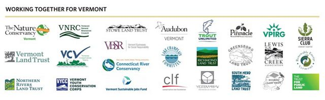 Partner logos for Rebuilding Resilient Vermont press release