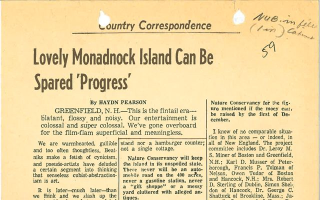 An image of a newspaper article from 1959.