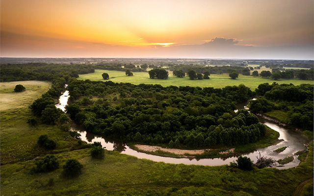 Sunset over the Blue River.